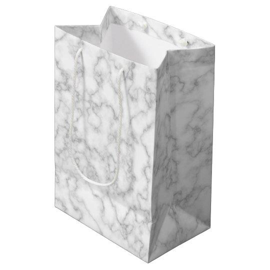 Marbled Grey White Marble Stone Pattern Background Medium
