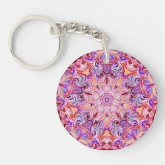 Marbled Kaleidoscope Keychain