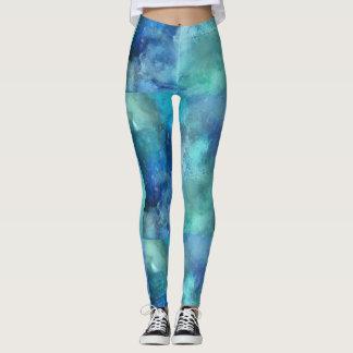 Marbled Leggings Blue