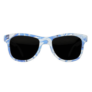 Marbled Ocean Flowers Sunglasses