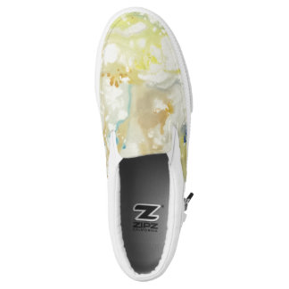 Marbled Painting (white with color pops) shoes