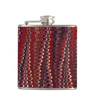 Marbled Paper Background Flasks