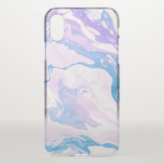 Marbled paper watercolor design iPhone x case