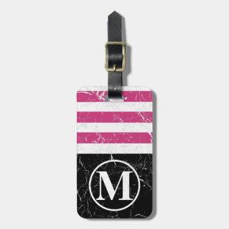 Marbled PB HS Monogram Luggage Tag