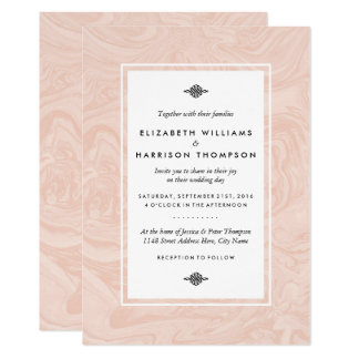 Marbled Rose Elegant Vintage Wedding Card