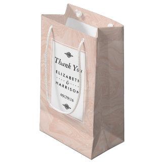 Marbled Rose Elegant Vintage Wedding Favor Small Gift Bag