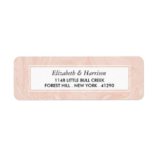Marbled Rose Elegant Vintage Wedding Return Address Label