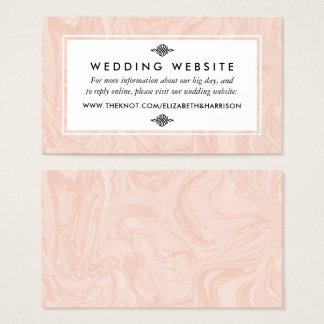 Marbled Rose Elegant Vintage Wedding Website Business Card