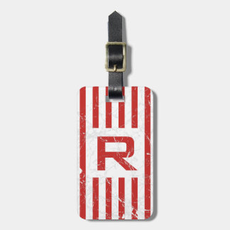 Marbled RS Grill Monogram Luggage Tag
