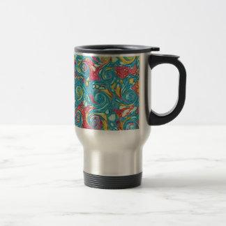 Marbled Swirls Stainless Steel Travel Mug