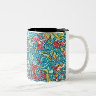 Marbled Swirls Two-Tone Mug