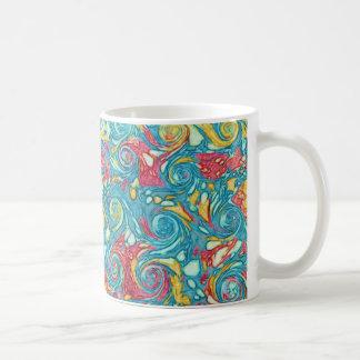 Marbled Swirls Basic White Mug