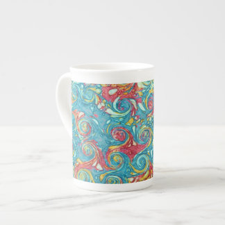 Marbled Swirls Bone China Mug