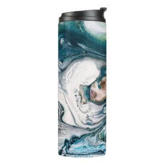 Marbled Teal Abstact Ocean Art Thermal Tumbler