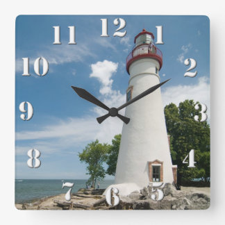 Marblehead Lighthouse Square Wall Clock