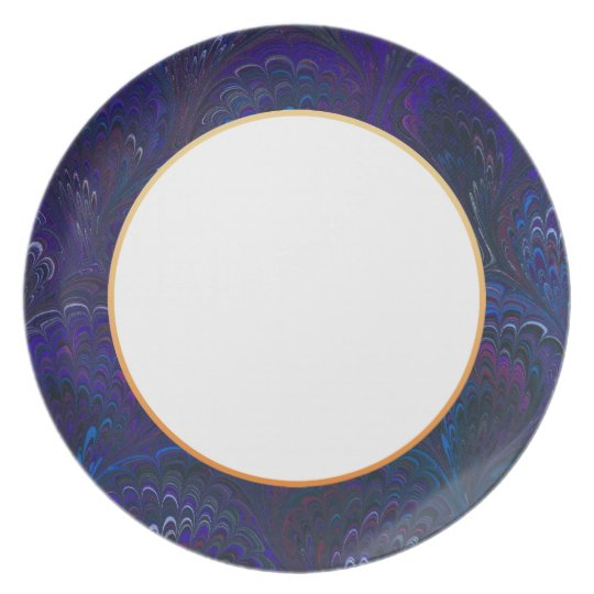 Marbleised Royal Blue End Paper Plate