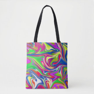 Marbleized Bubble Gum Pattern, Tote Bag