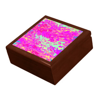 Marbleized Look Pinks Greens Yellow and Blue Gift Box