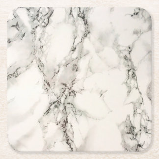 Marbleous Marble Square Paper Coaster
