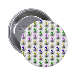 Marbles Colourful Pattern 6 Cm Round Badge