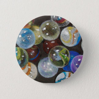 MARBLES GALORE 6 CM ROUND BADGE