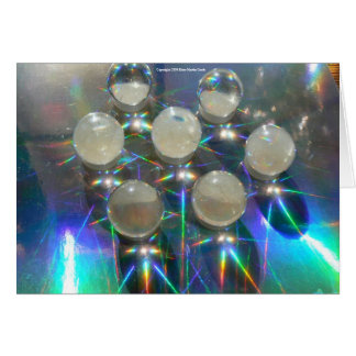 Marbles on Holograph Greeting Card