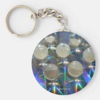 Marbles on Holograph Key Ring