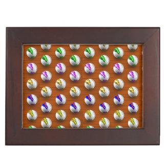 Marbles on Wood Pattern Keepsake Boxes