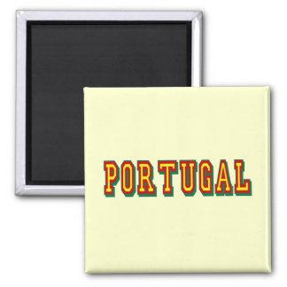 """Marca """"Portugal"""" por Fás do Futebol Português Square Magnet"""