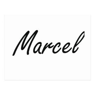 Marcel Artistic Name Design Postcard