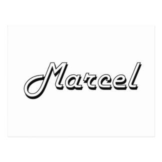 Marcel Classic Retro Name Design Postcard