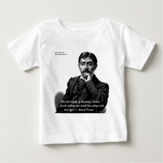 Marcel Proust & Famous Quote Baby T-Shirt