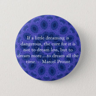 Marcel Proust quote about dreamers and dreaming 6 Cm Round Badge