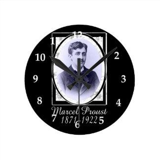Marcel Proust Round Clock