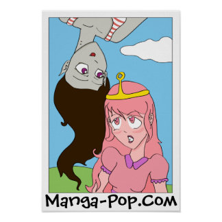 Marceline and Princess Bubblegum Manga Style Poster