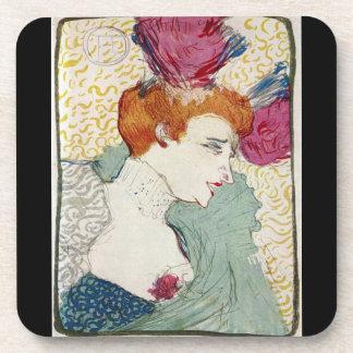 Marcellle Lender by Toulouse-Lautrec Beverage Coaster
