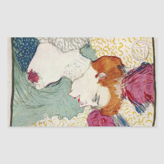 Marcellle Lender by Toulouse-Lautrec Rectangle Sticker