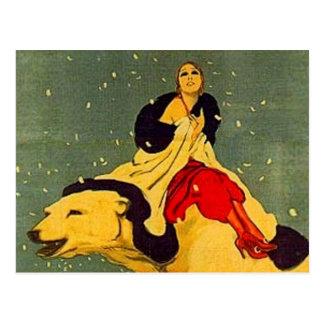 Marcello Dudovich Art Deco Polar Bear Padova Postcard