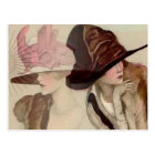 Marcello Dudovich Young Girls in Hats Illustration Postcard