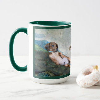 Marcello the creation of dog 15 oz Art Mug