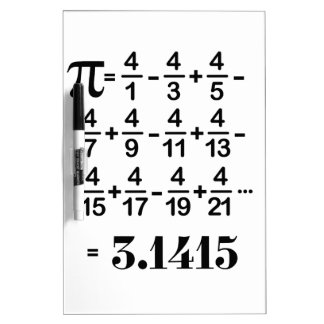 March 14 is a Pi day Dry Erase Board
