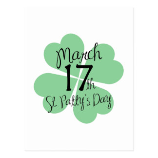 March 17th St. Patty's Day Postcard