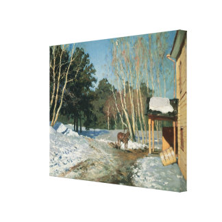 March, 1895 stretched canvas prints