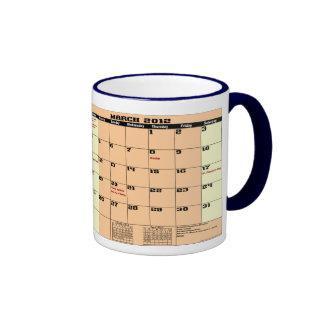 March 2012 Patrotic Calendar Mug Please See Notes
