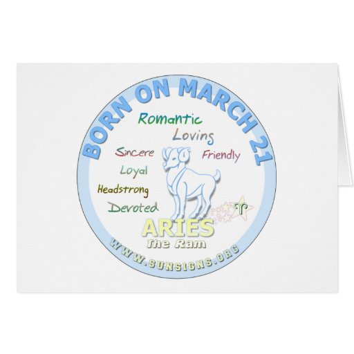 March 21st Birthday - Aries Greeting Cards