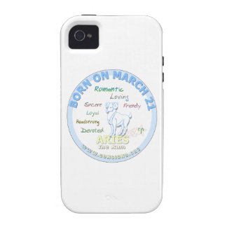 March 21st Birthday - Aries Case-Mate iPhone 4 Cover