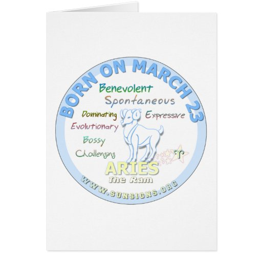 March 23rd Birthday - Aries Greeting Card