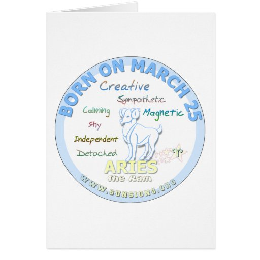 March 25th Birthday - Aries Greeting Cards