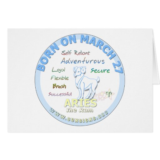 March 27th Birthday - Aries Greeting Card