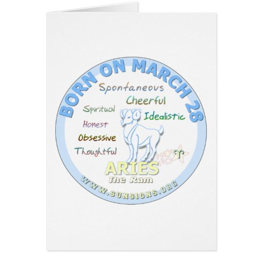 March 28th Birthday - Aries Greeting Cards
